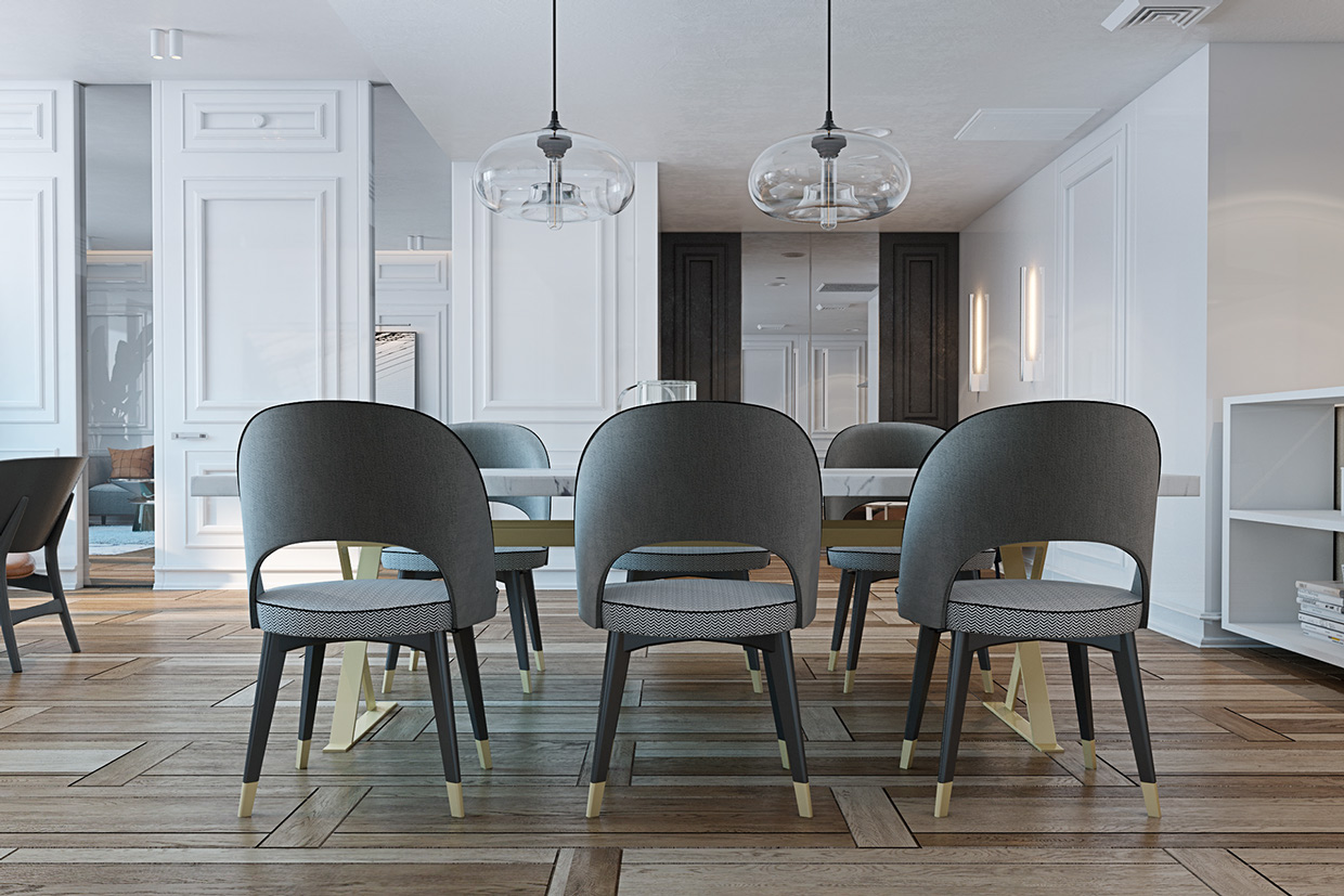 Gray Dining Room Chairs A Miami Apartment In Stormy Muted Tones