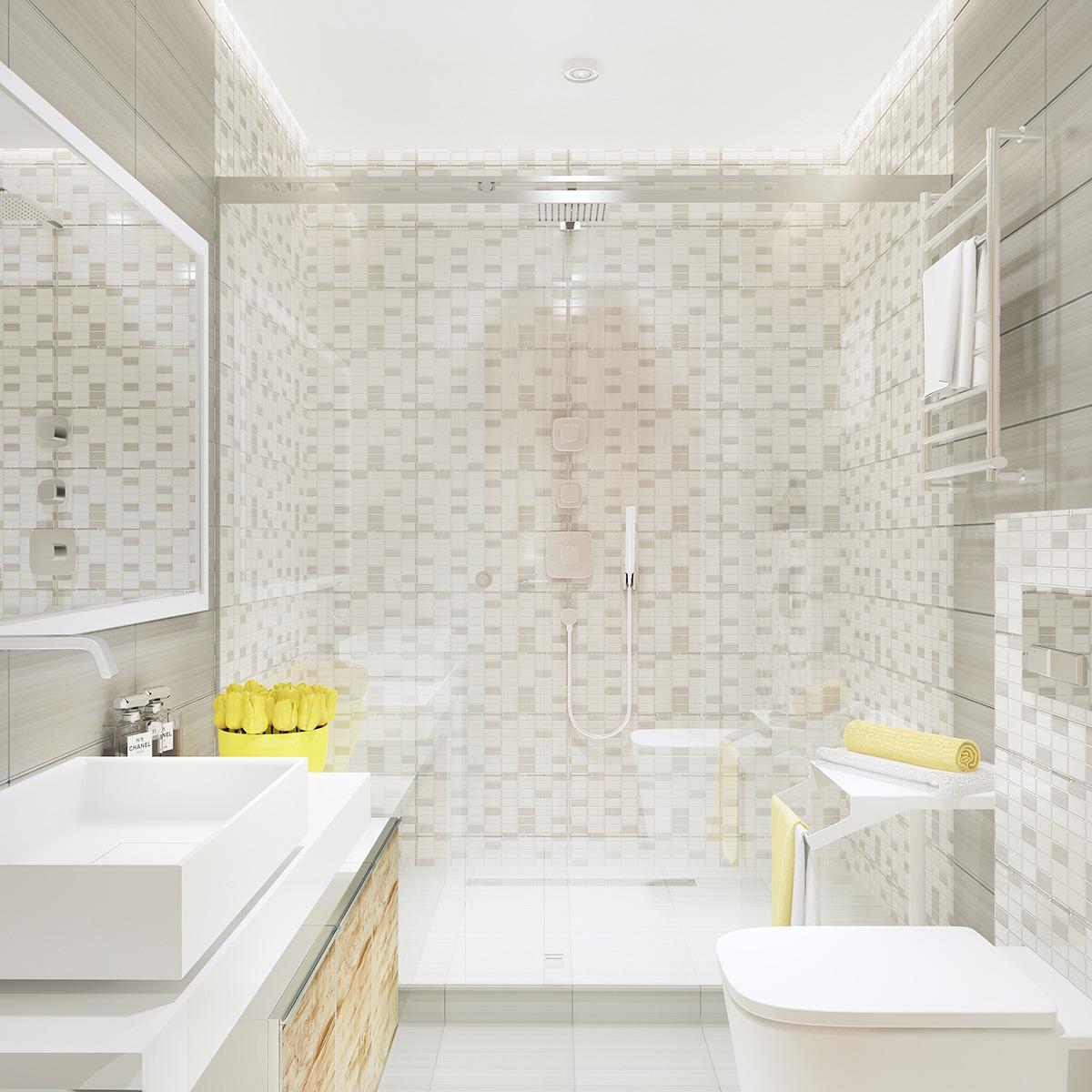 graytilebathroom  Interior Design Ideas