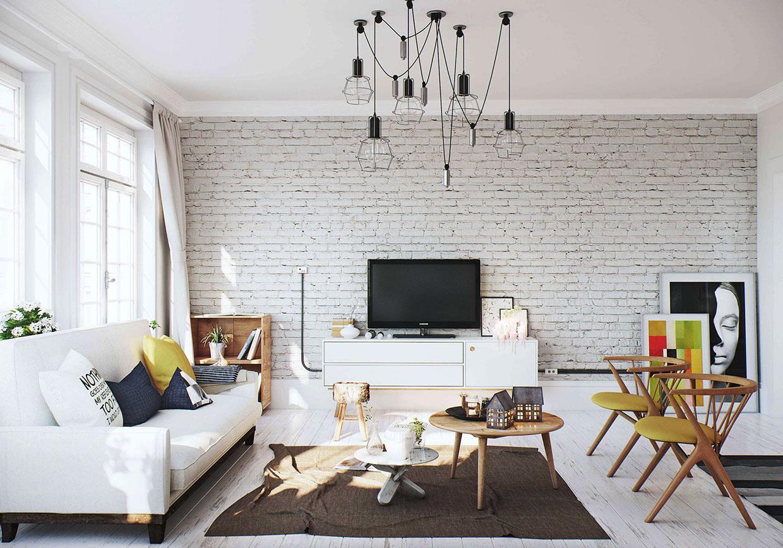 White Brick Wall Interior Design Ideas Home Design Ideas