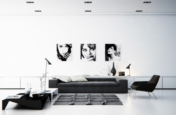 pictures of black and white living rooms room interior designs images scandinavian design ideas inspiration 43