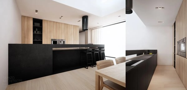 black and white wood kitchen design ideas black-kitchen-counter | Interior Design Ideas.