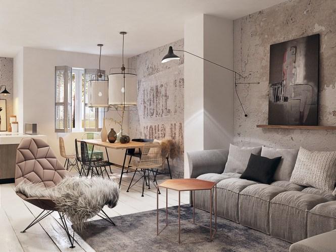 Concrete Finish Studio Apartments