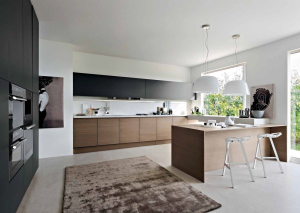 black and white wood kitchen design ideas Black, White & Wood Kitchens: Ideas & Inspiration