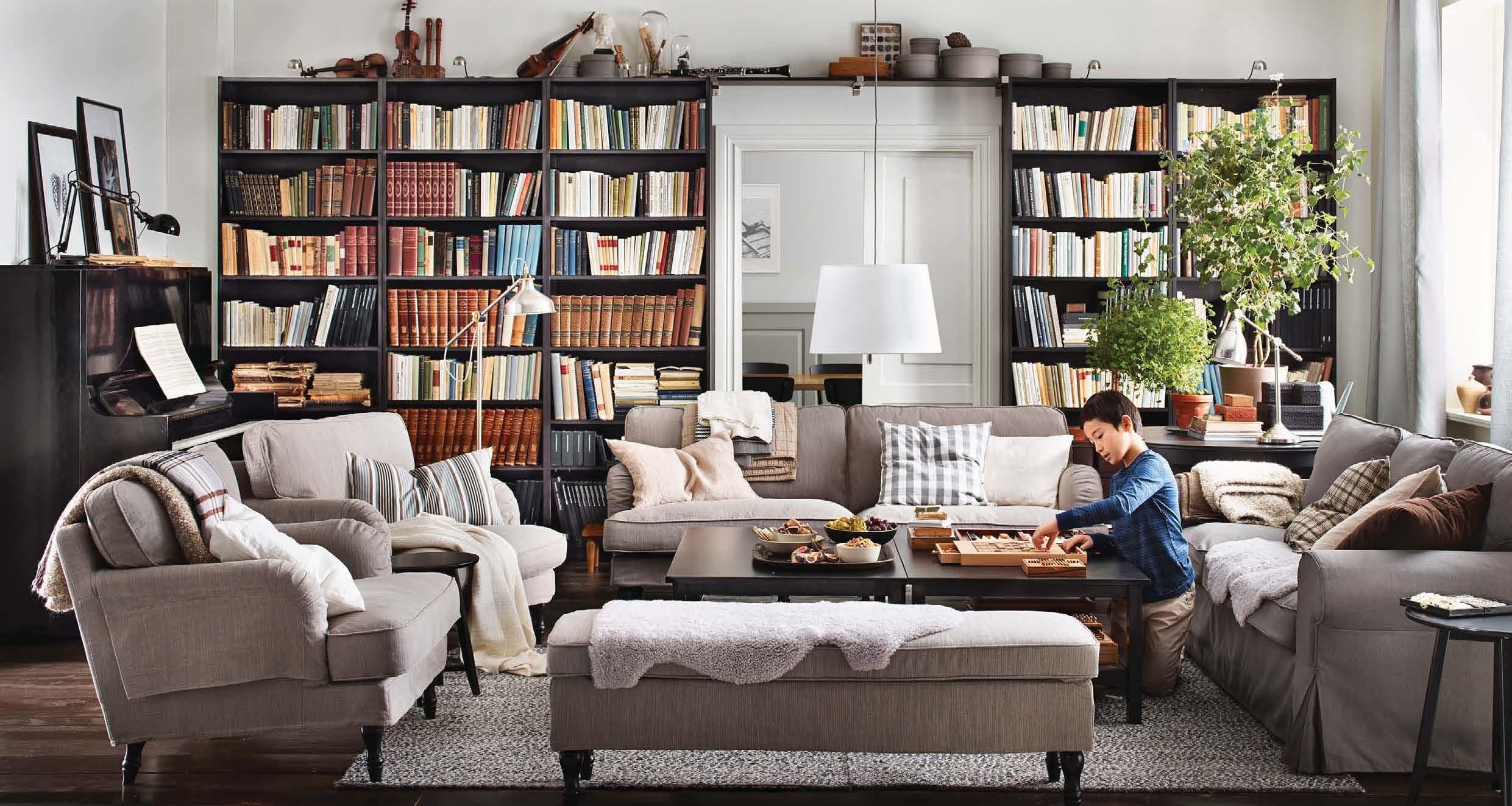 livingroombookshelves  Interior Design Ideas