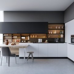 Design Kitchen Coffee Themed Items 20 Sleek Designs With A Beautiful Simplicity Black White Wood Kitchens Ideas Inspiration