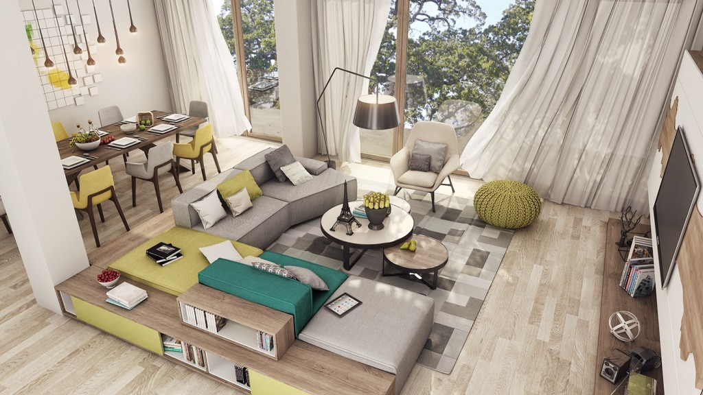 2 Luxury Apartment Designs For Young Couples