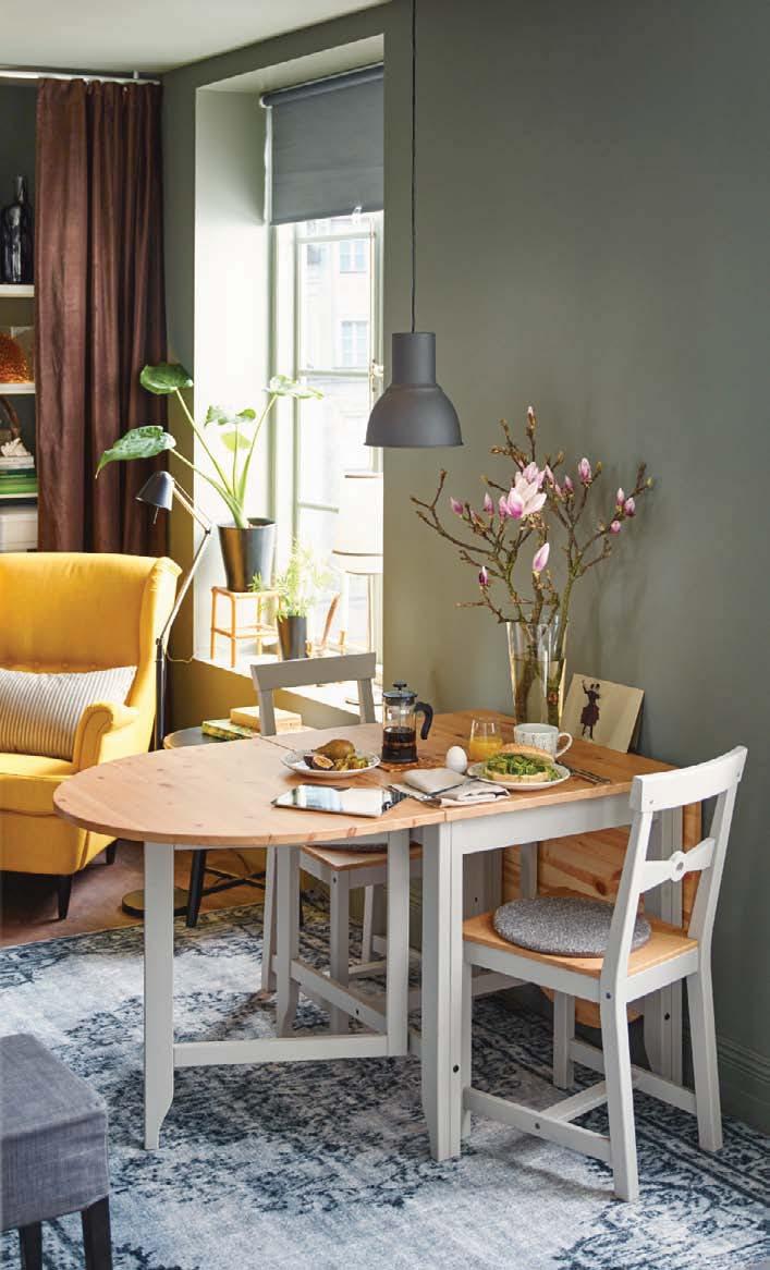 sage green dining room