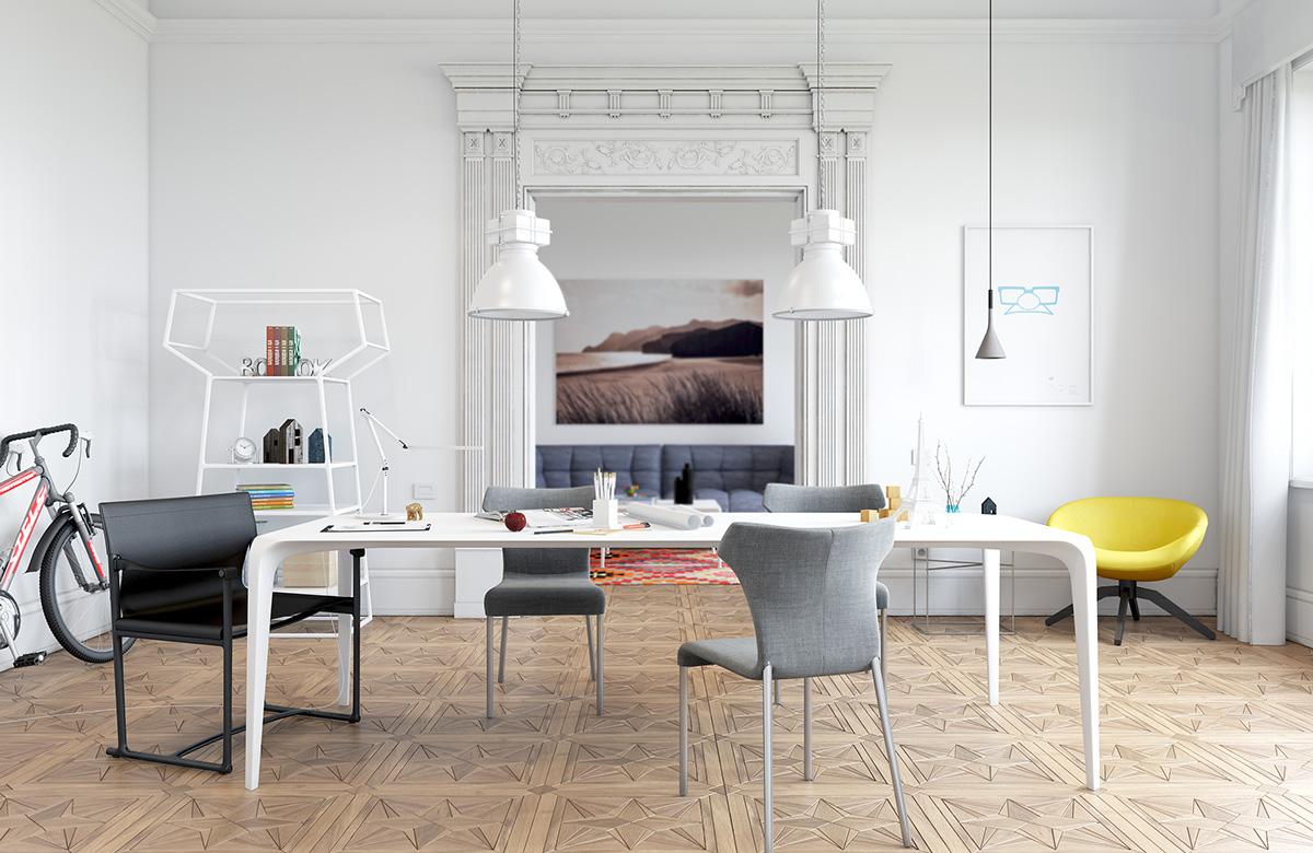 living room interior design ideas with dining table light scandinavian inspiration