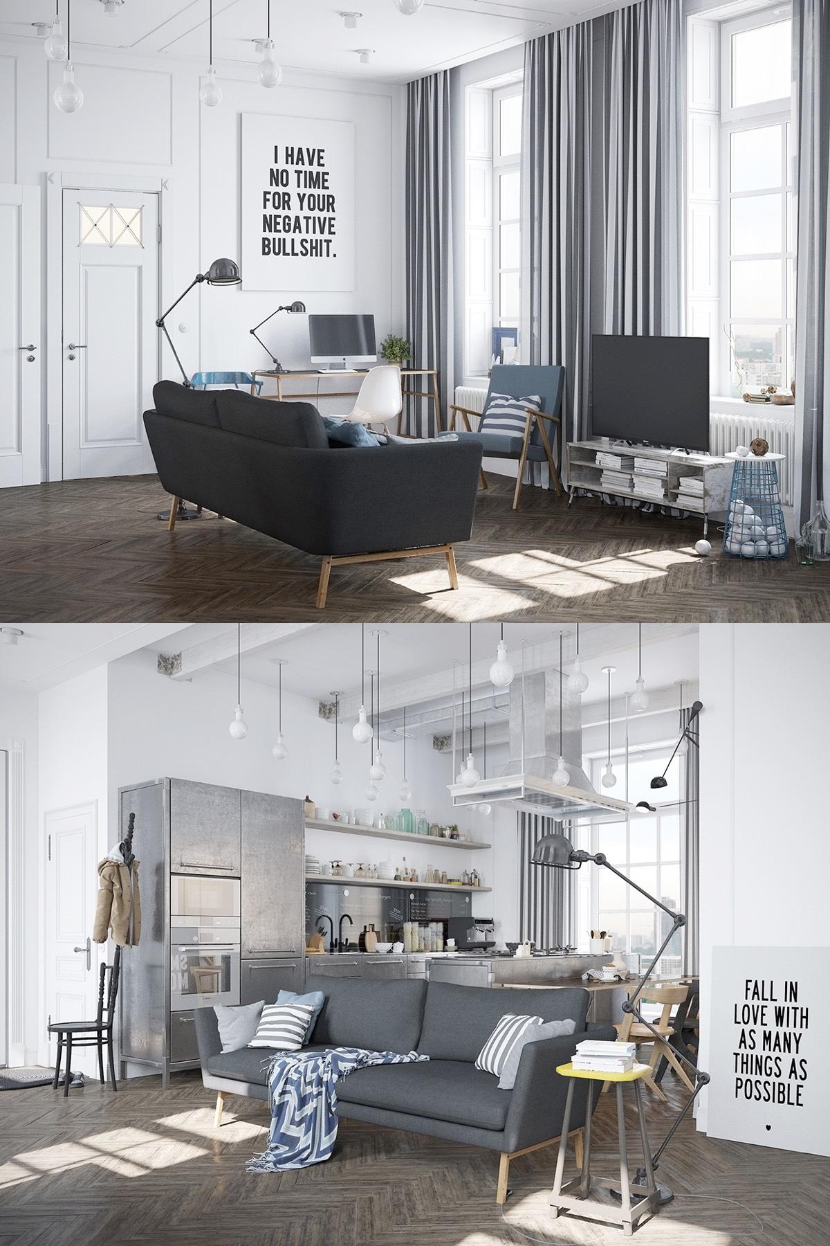 one sofa living room ideas white corner units for scandinavian design inspiration