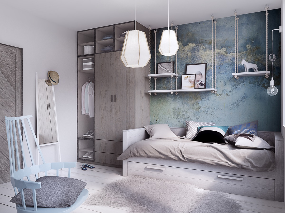 Concrete Finish Studio Apartments Ideas  Inspiration
