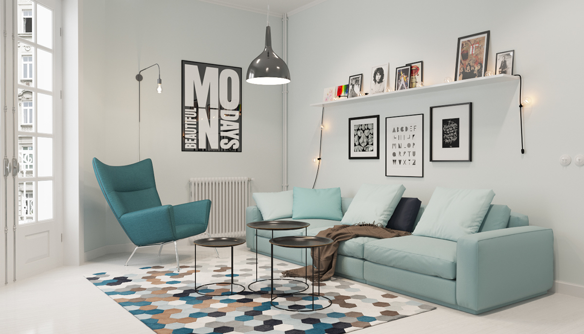 scandinavian living room design ideas with black leather furniture inspiration