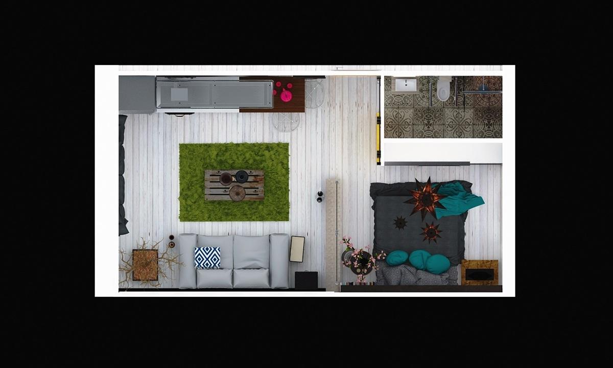 studioapartmentlayoutidea  Interior Design Ideas