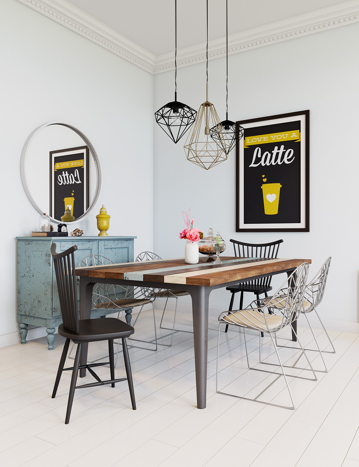 wire dining room chairs stuffed animal for toddlers scandinavian design ideas and inspiration