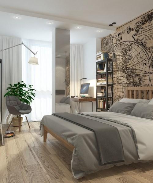 apartment bedroom design ideas 5 Apartment Designs Under 500 Square Feet