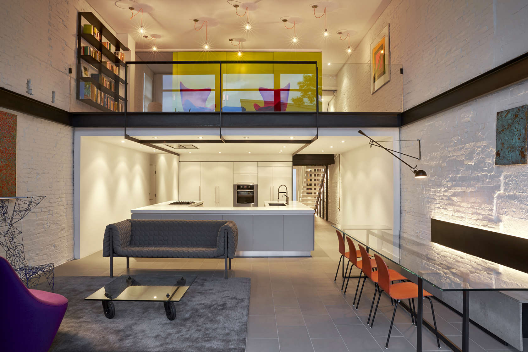 A Modern Row House for a Fun Couple with a Love of Cooking