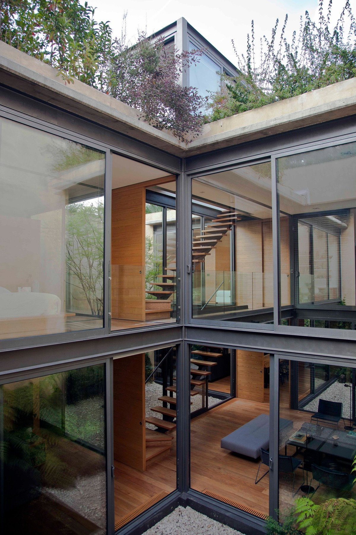 A House With 4 Courtyards Includes Floor Plans