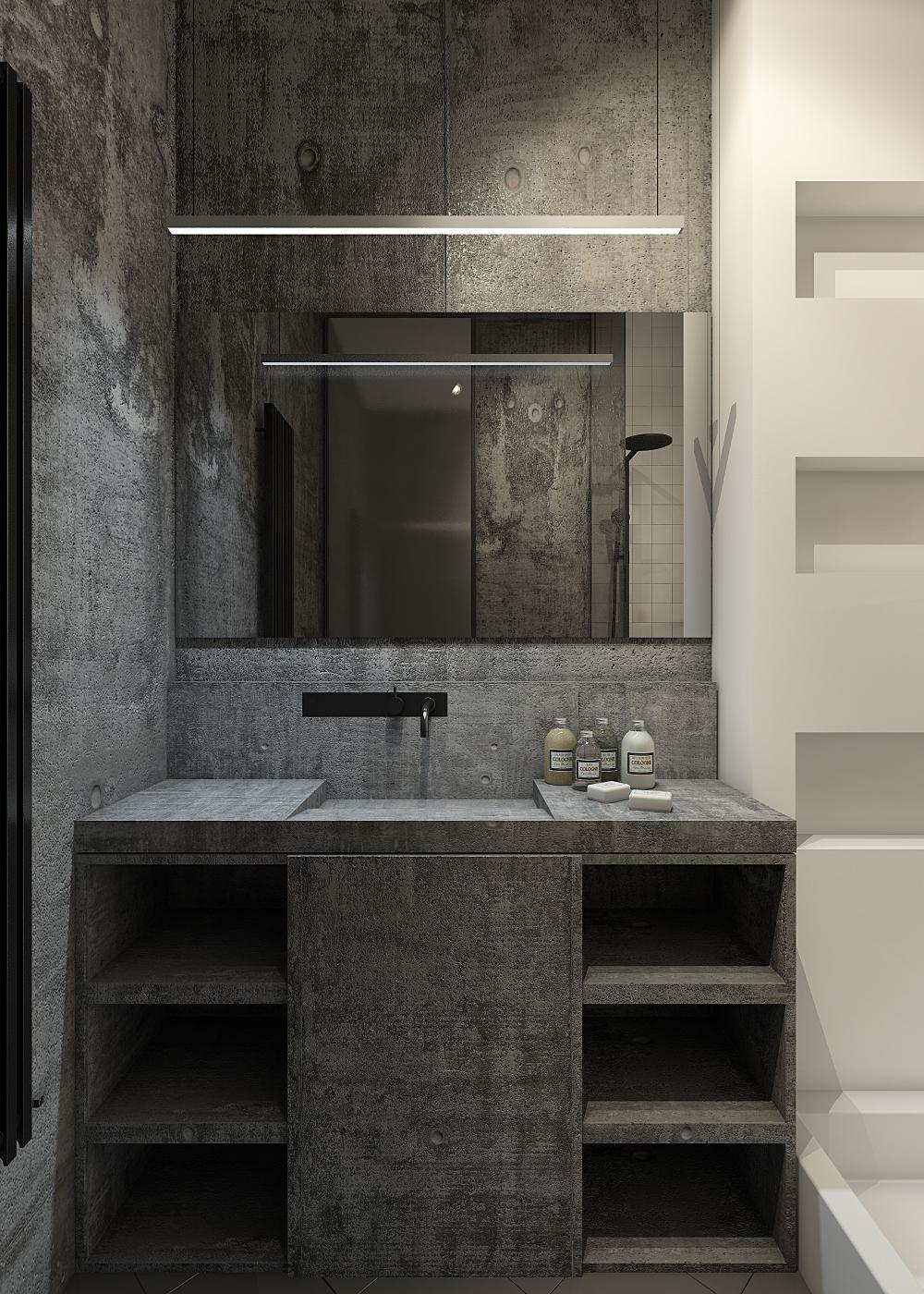 Concrete Bathroom Interior Design Ideas