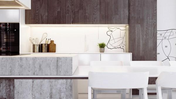 concrete kitchen island 4 Homes Using Concrete as a Stylish Accent