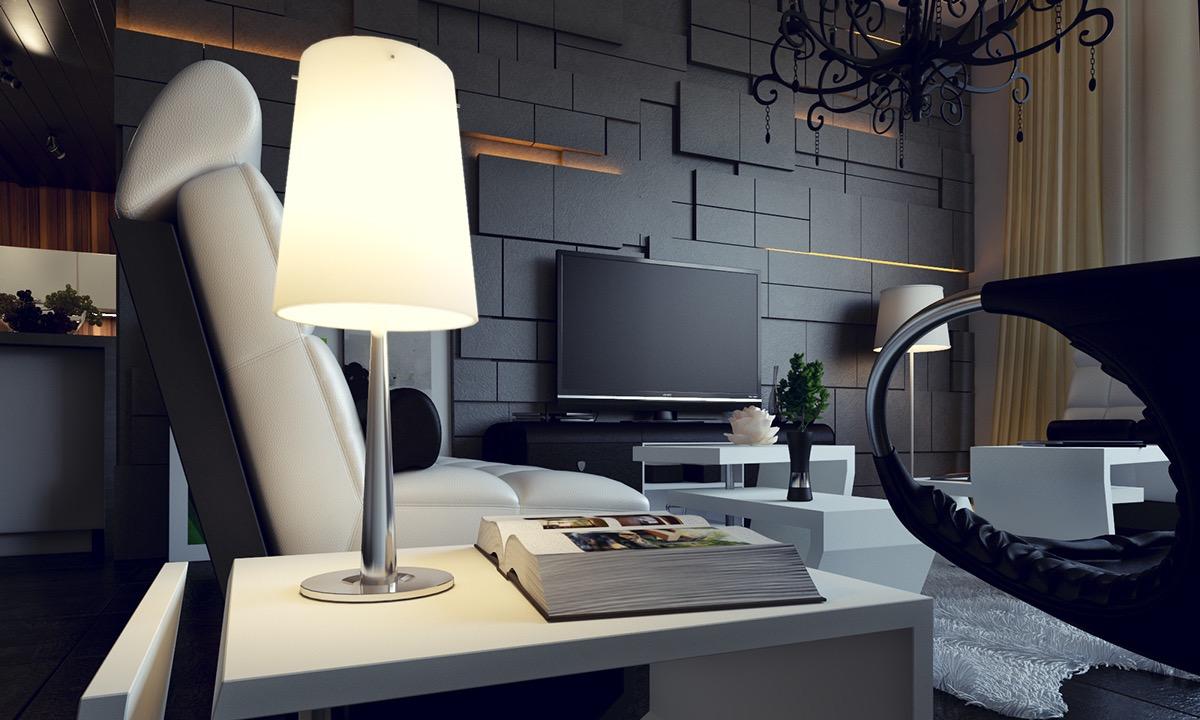 wall panels for living room ideas small decor modern asymmetric interior design