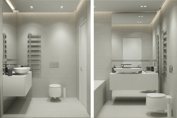 Modern Gray Bathroom 6 Clean And Simple Home Designs For Comfortable Living
