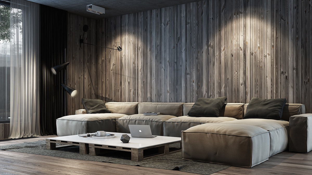 vertical wood wall panelsInterior Design Ideas.