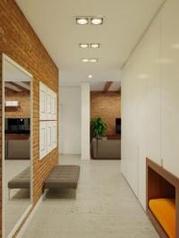 brick hallway decor   Interior Design Ideas.