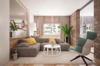 chic brick accent wall | Interior Design Ideas.