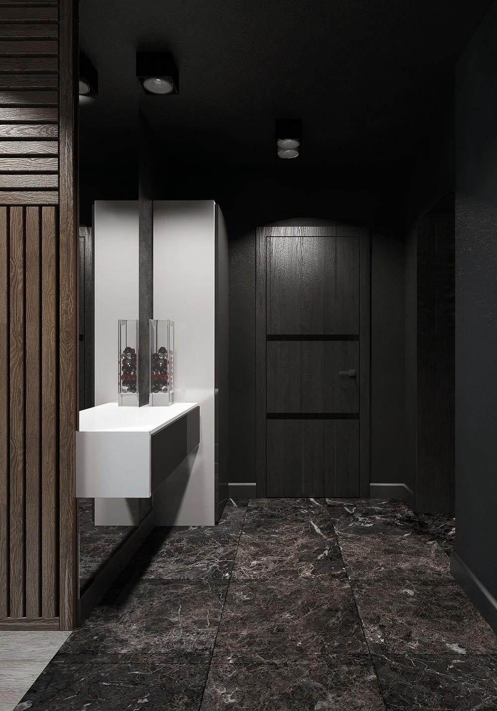 dark hallway inspiration  Interior Design Ideas