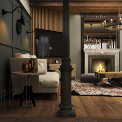 Images Of Living Rooms With Grey Walls Room Leather Set 3 Stunning Homes Exposed Brick Accent