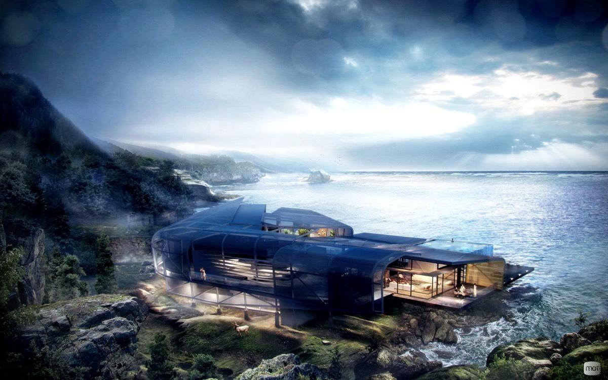 Futuristic Glass House Interior Design Ideas