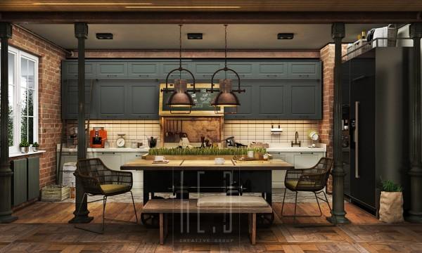 gatsby house kitchen