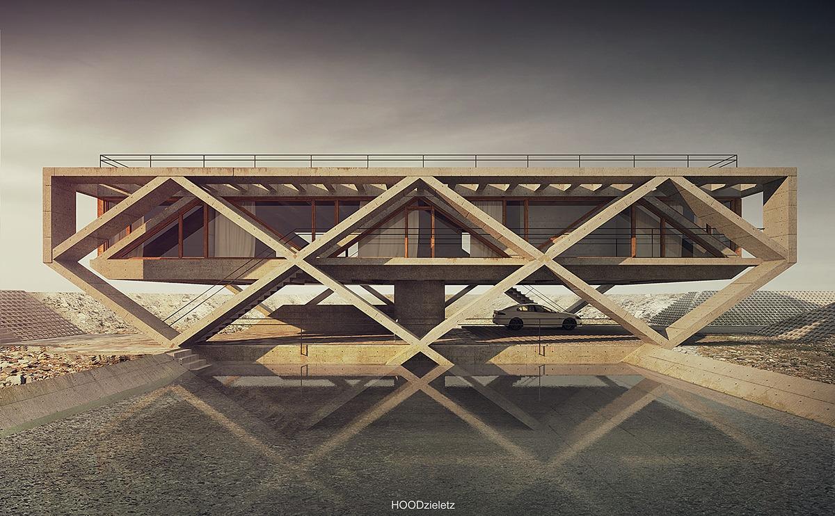 Modern Concrete Architecture  Interior Design Ideas