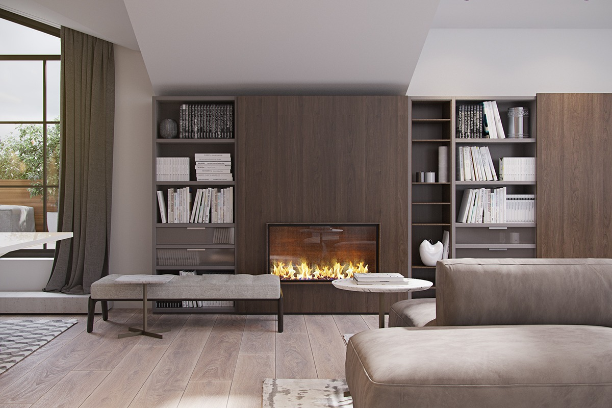 3 Modern Homes With Amazing Fireplaces and Creative Lighting