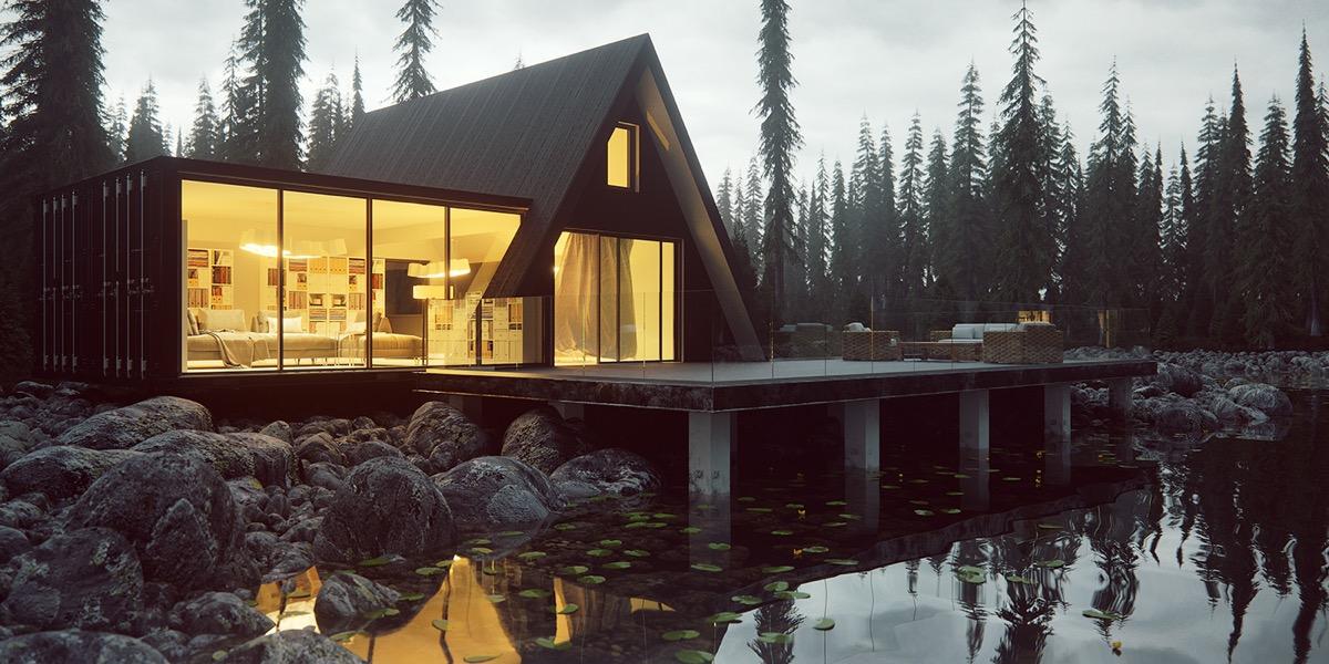 triangle house  Interior Design Ideas