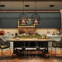 Small Pendant Lights For Kitchen Red Table 3 Stunning Homes With Exposed Brick Accent Walls