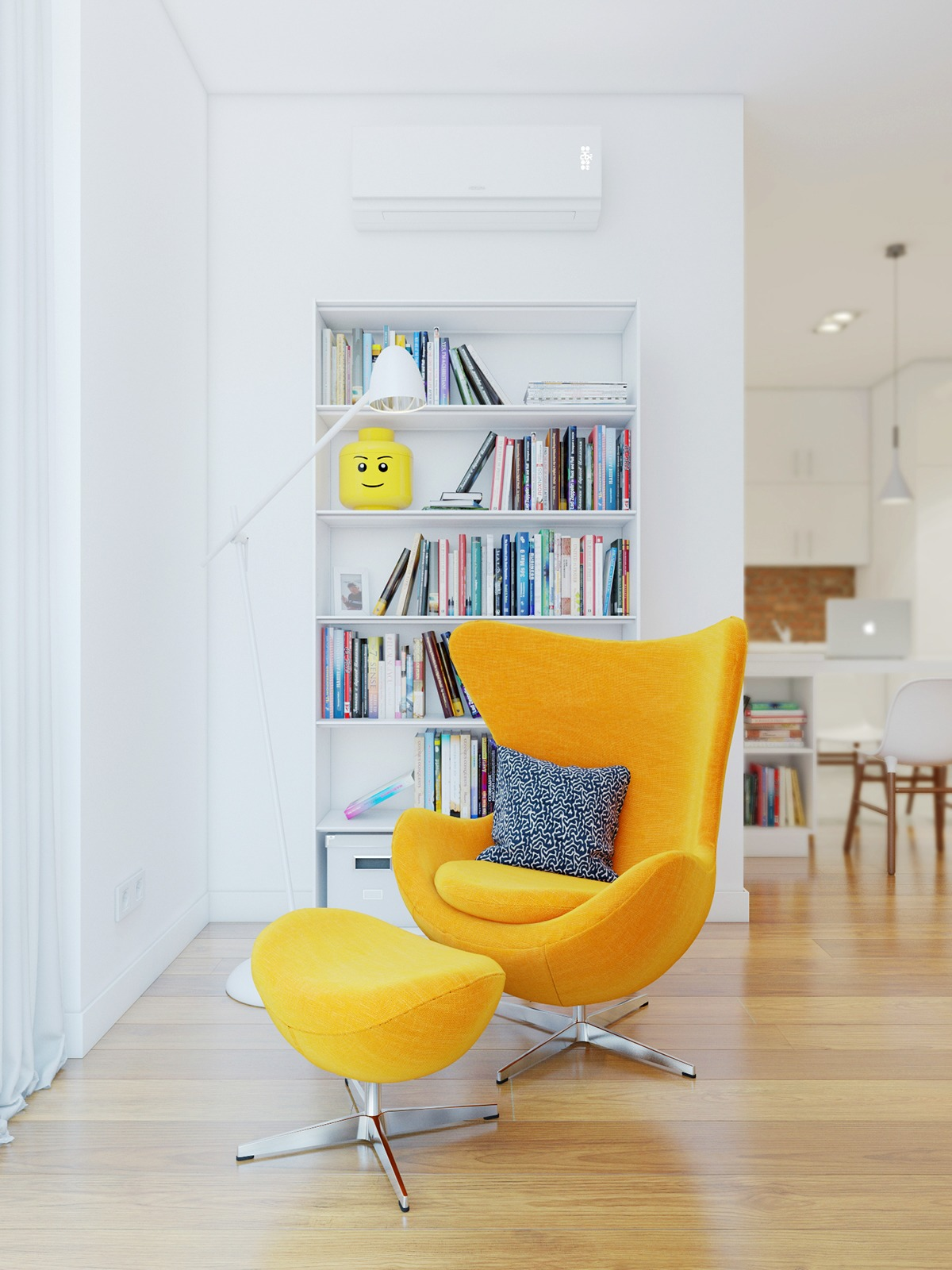 Yellow Egg Chair 3 Stunning Homes With Exposed Brick Accent Walls