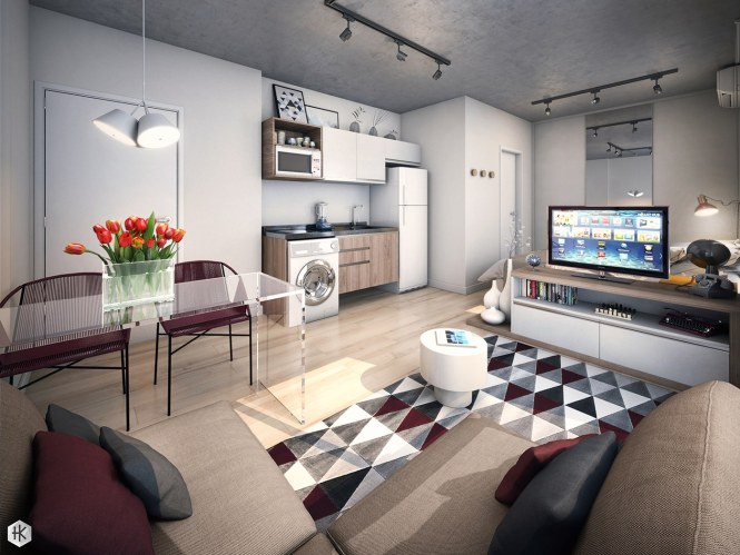 Studio Apartments With Beautiful Design