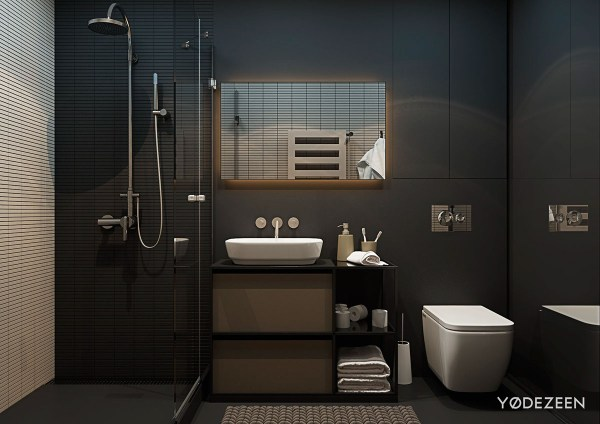 Black Bathroom Interior Design