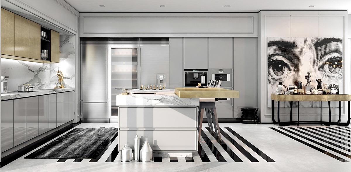 Deko Modern   Déco Salon Moderne Blanc
