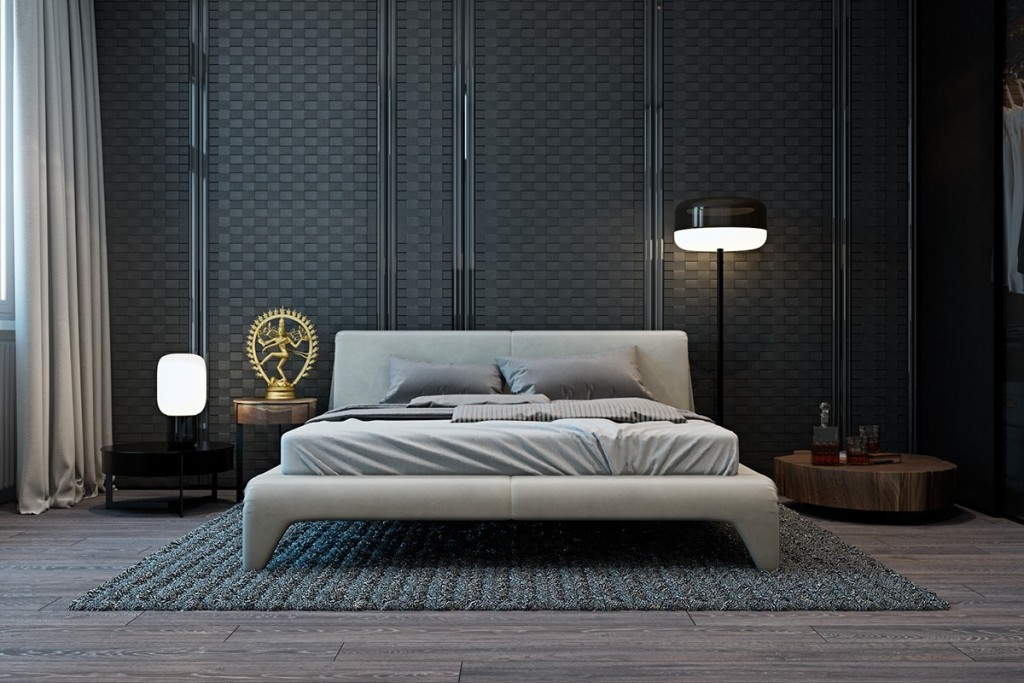 Pinterest Girls Kids Rooms With Wood Wallpaper A Modern Flat With Striking Texture And Dark Styling