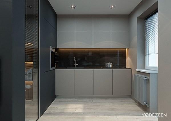 studio apartment kitchen 5 Small Studio Apartments With Beautiful Design