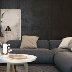 Living Room Design Ideas With Dark Furniture Small Without Fireplace Black Rooms Inspiration