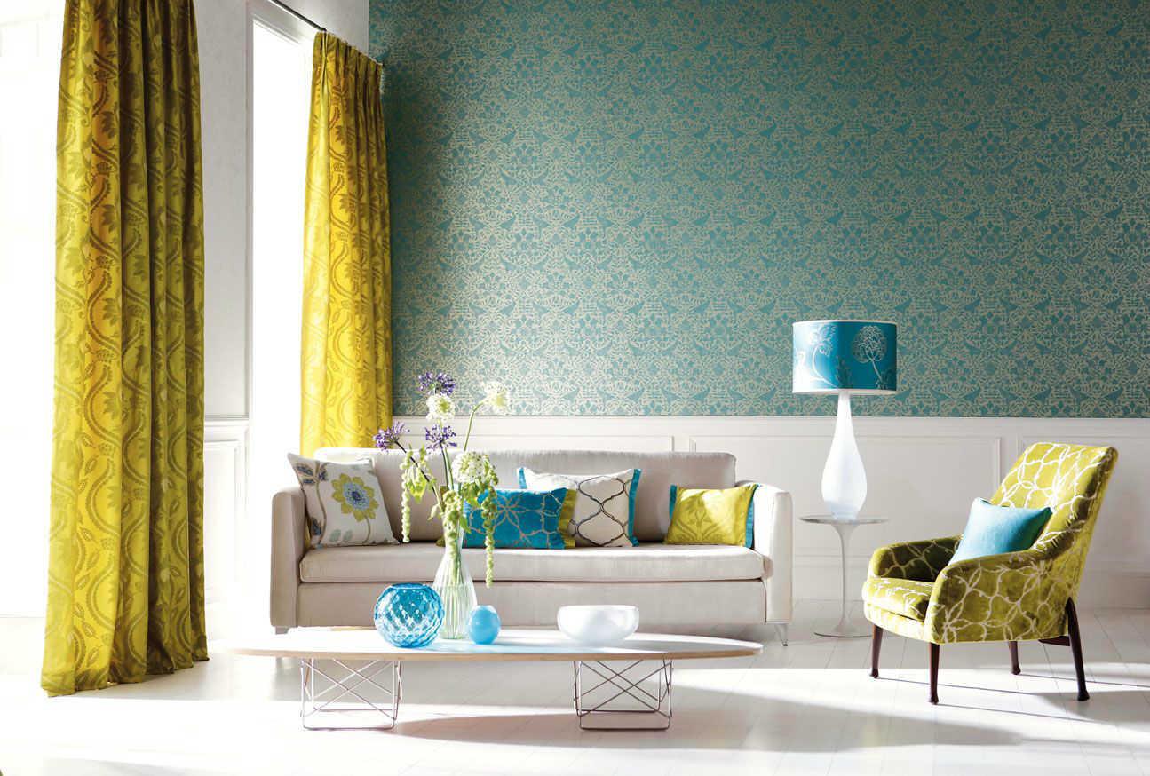 Wandgestaltung Wohnzimmer Orange