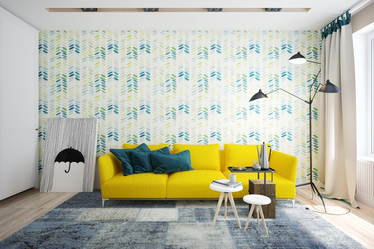 what colors go well with yellow walls