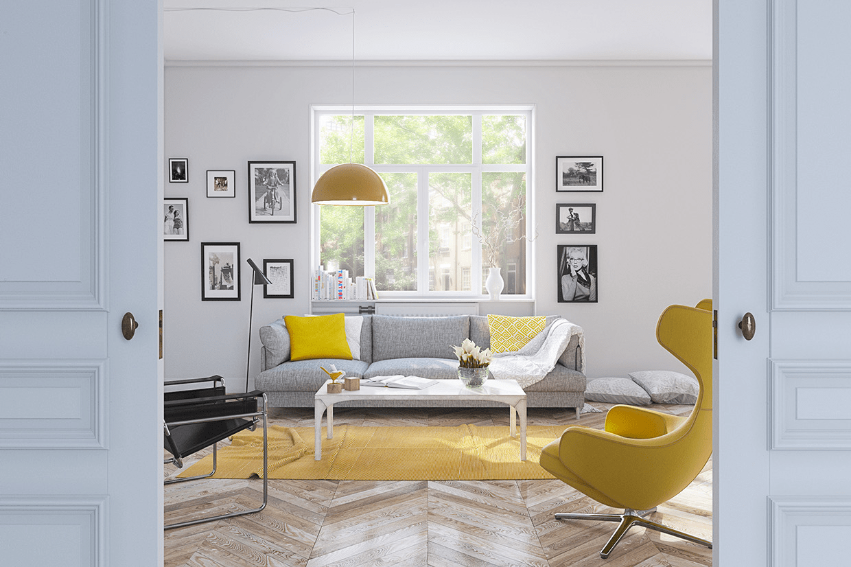gray white and yellow living room ideas decor black sofa 25 gorgeous accent rooms