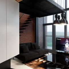 Wood Wall Units For Living Room Design A Online Stylish Exposed Brick Lofts