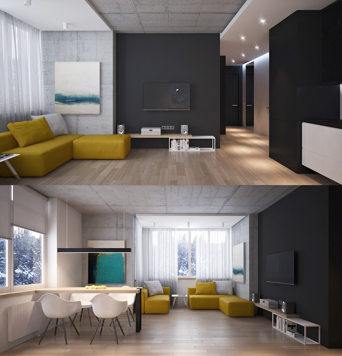 living rooms with dark grey feature walls affordable room furniture sets black ideas inspiration