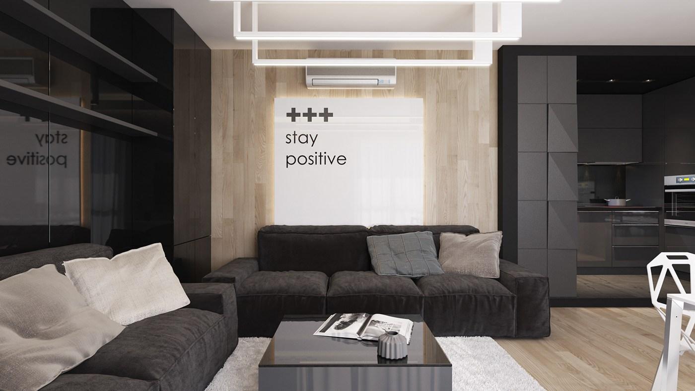 modern black living room open floor plan kitchen and rooms ideas inspiration