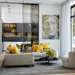 Gray White And Yellow Living Room Ideas Used Set 25 Gorgeous Accent Rooms