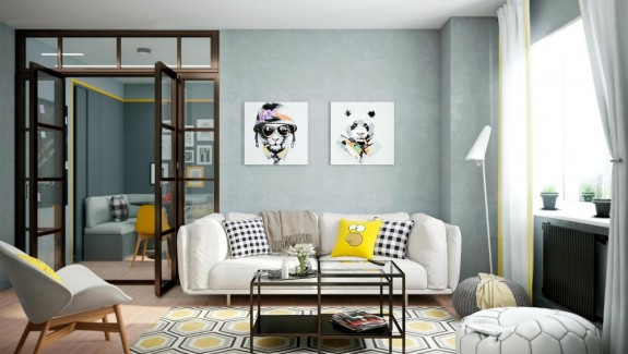 living room accents modern farmhouse 25 gorgeous yellow accent rooms 2 bright homes with energetic
